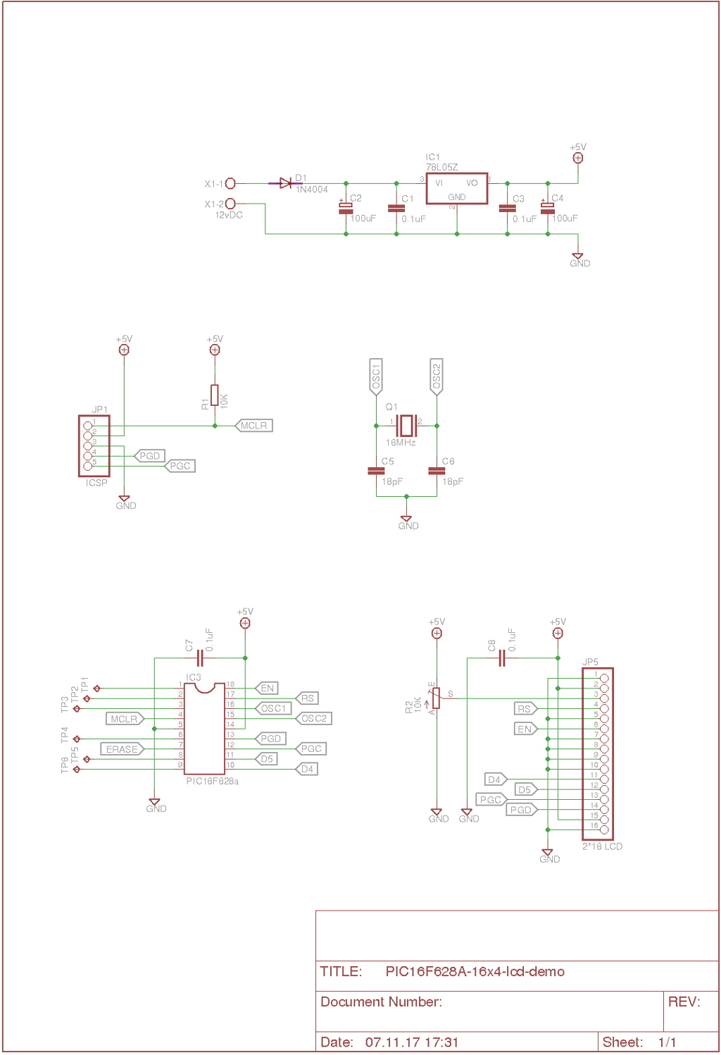 Schematic layout